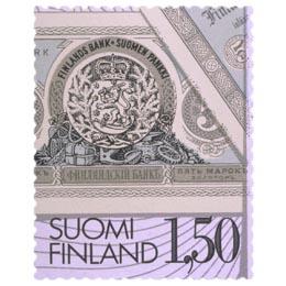 100 vuotta suomalaista setelipainatusta  postimerkki 1