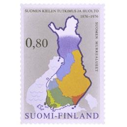 100 vuotta suomen kielen tutkimusta  postimerkki 0