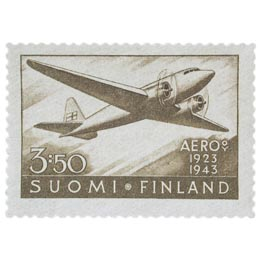 AERO 20 vuotta ruskea postimerkki 3