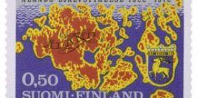 Ahvenanmaan itsehallinto 50 vuotta  postimerkki 0