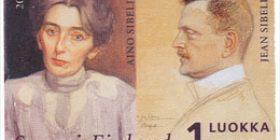 Ainola - Aino ja Jean Sibelius  postimerkki 1 luokka