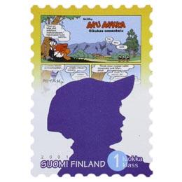 Aku Ankka - Oikukas onnenkalu  postimerkki 1 luokka