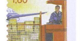 Alennuspostimerkit - Postin siirtoa trukilla  postimerkki 1