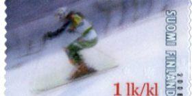 Alppihiihtoa - Tanja Poutiainen  postimerkki