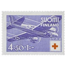Ambulanssilentokone sininen postimerkki 4