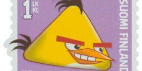 Angry Birds - Keltainen lintu  postimerkki 1 luokka