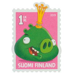 Angry Birds - Kuningassika  postimerkki 1 luokka