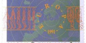 Avaruusajan Eurooppa  postimerkki 2