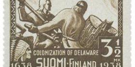 Delawaren asutuksen 300-vuotisjuhla ruskea postimerkki 3