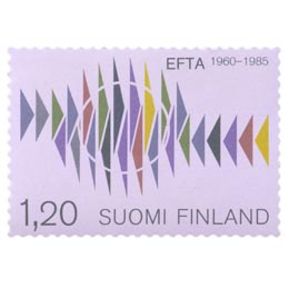 EFTA 25 vuotta  postimerkki 1