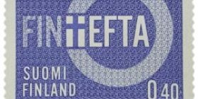 EFTA sininen postimerkki 0