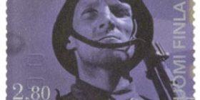 Elokuva 100 vuotta - Tuntematon sotilas  postimerkki 2