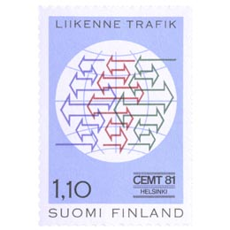 Euroopan Liikenneministerikonferenssi  postimerkki 1