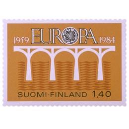 Euroopan posti- ja telehallintojen liitto 25 vuotta  postimerkki 1