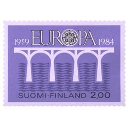 Euroopan posti- ja telehallintojen liitto 25 vuotta  postimerkki 2 markka