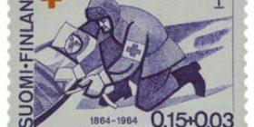 Geneven sopimus 100 vuotta violetinsininen postimerkki 0