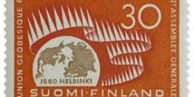 Geodeettis-geofysikaalisen unionin XII yleiskokous  postimerkki 30 markka