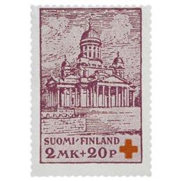 Helsingin tuomiokirkko lila postimerkki 2 markka