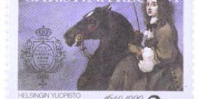 Helsingin yliopisto 350 vuotta  postimerkki 2 markka