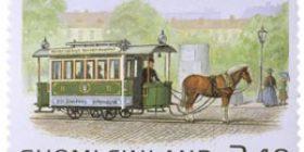 Hevosvetoinen raitiovaunu  postimerkki 2