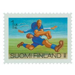 Hullut suomalaiset - Eukonkanto  postimerkki 1 luokka