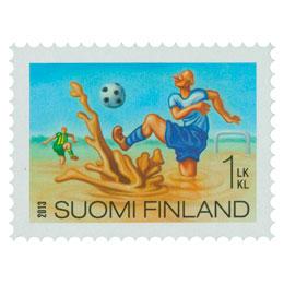 Hullut suomalaiset - Suopotkupallo  postimerkki 1 luokka