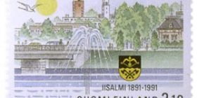 Iisalmi 100 vuotta  postimerkki 2