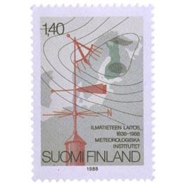 Ilmatieteen laitos 150 vuotta  postimerkki 1