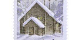 Joulu maaseudulla  postimerkki 1