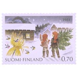 Joulukuusen haku  postimerkki 0