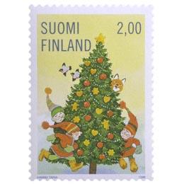 Joulukuusi  postimerkki 2 markka