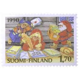 Joulupukin kirjeet  postimerkki 1