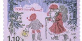 Joulupukki ja tonttu  postimerkki 1