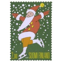 Joulupukki luistimilla  postimerkki 2 markka