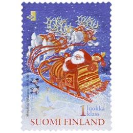 Joulupukki  postimerkki 1 luokka