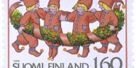 Joulutontut  postimerkki 1