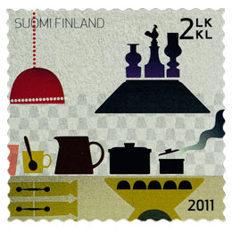 Kaj Franck 100 vuotta  postimerkki 2 luokka