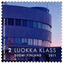 Kaksi vuosisataa valtion rakentamista - Malmin lentoasema  postimerkki 2 luokka