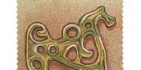 Kalevala - Hevossolki  postimerkki 3 markka