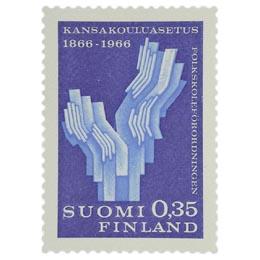 Kansakouluasetuksen 100-vuotisjuhla  postimerkki 0