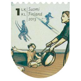 Kansakoulusta Pisaan - Koululiikunta  postimerkki 1 luokka