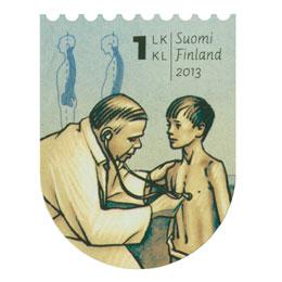 Kansakoulusta Pisaan - Kouluterveydenhuolto  postimerkki 1 luokka