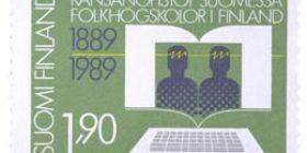 Kansanopistot Suomessa 100 vuotta  postimerkki 1