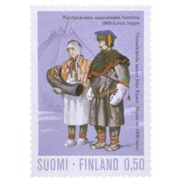 Kansanpukuja - Inari  postimerkki 0