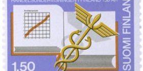 Kauppaopetus Suomessa 150 vuotta  postimerkki 1