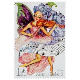 Keijuja - Musiikki-teema  postimerkki 1 luokka