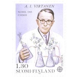 Kemisti  A. I. Virtanen  postimerkki 1