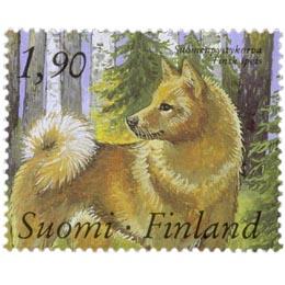 Kenneltoiminta 100 vuotta - Suomenpystykorva  postimerkki 1