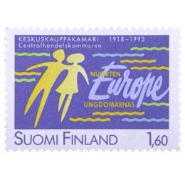 Keskuskauppakamari 75 vuotta  postimerkki 1