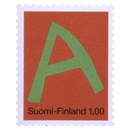 Kirjaimet - A  postimerkki 1 markka